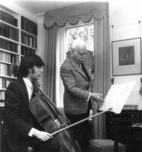 Sir Arthur Bliss and Julian Lloyd Webber