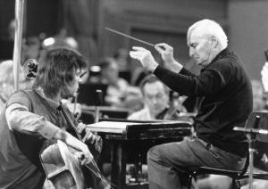 Julian Lloyd Webber and Vaclav Neumann with the Czech Philharmonic Orchestra